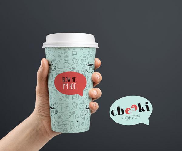 Cheeki Coffee cup design